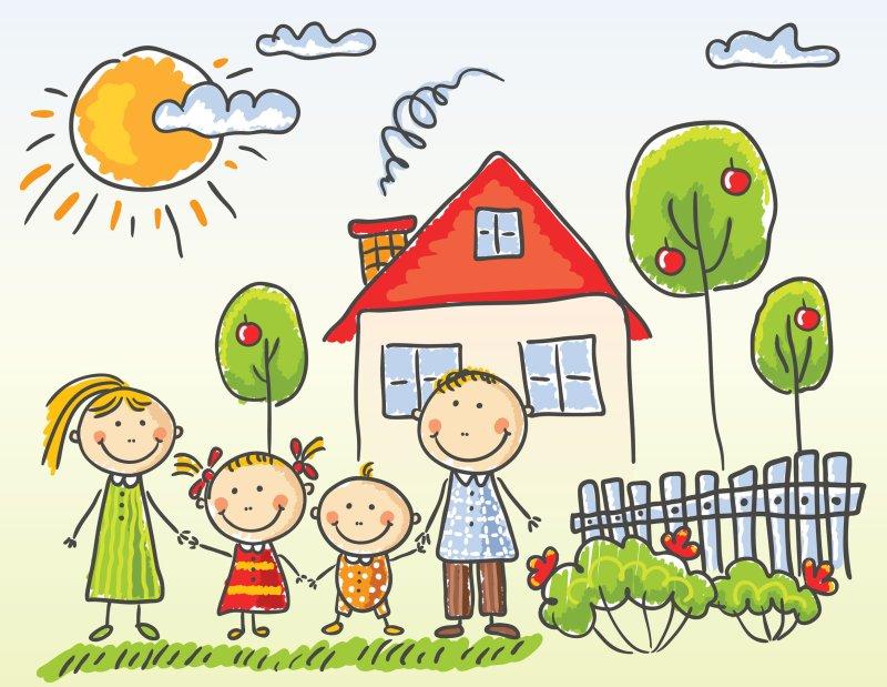 31896295 - happy family near their house