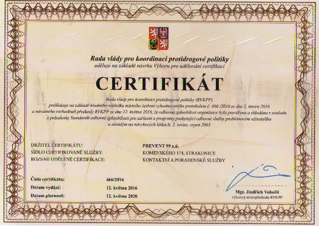 KCP ST Certifikát 2016-20